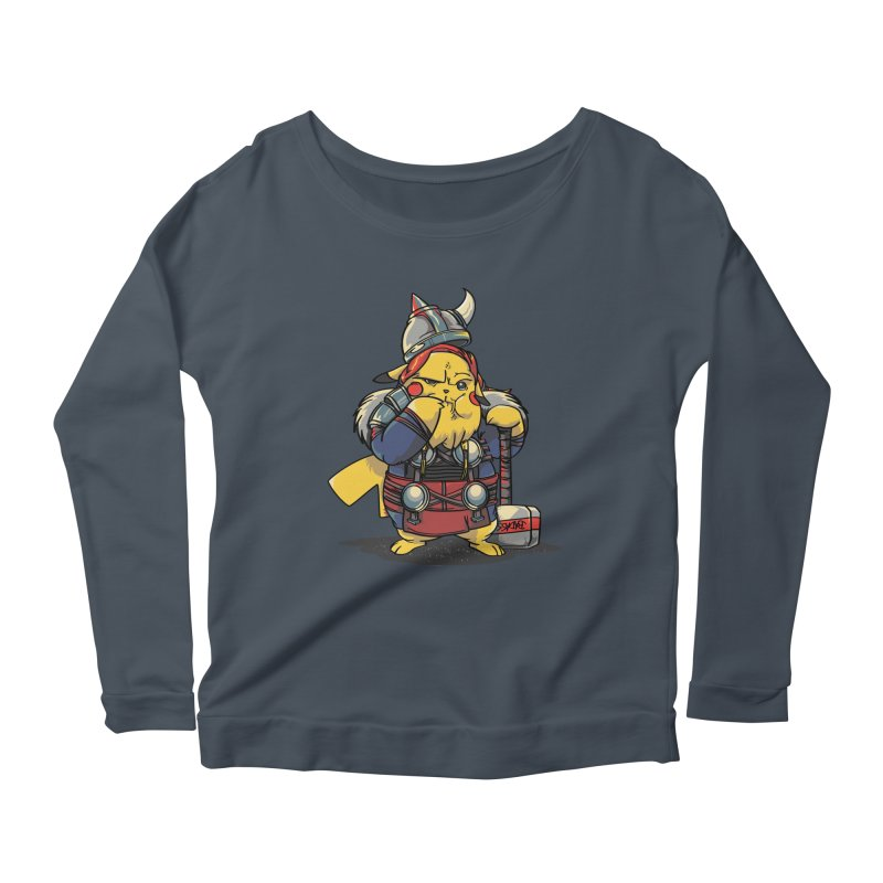 The real God of Thunder Women's Scoop Neck Longsleeve T-Shirt by maus ventura's Artist Shop