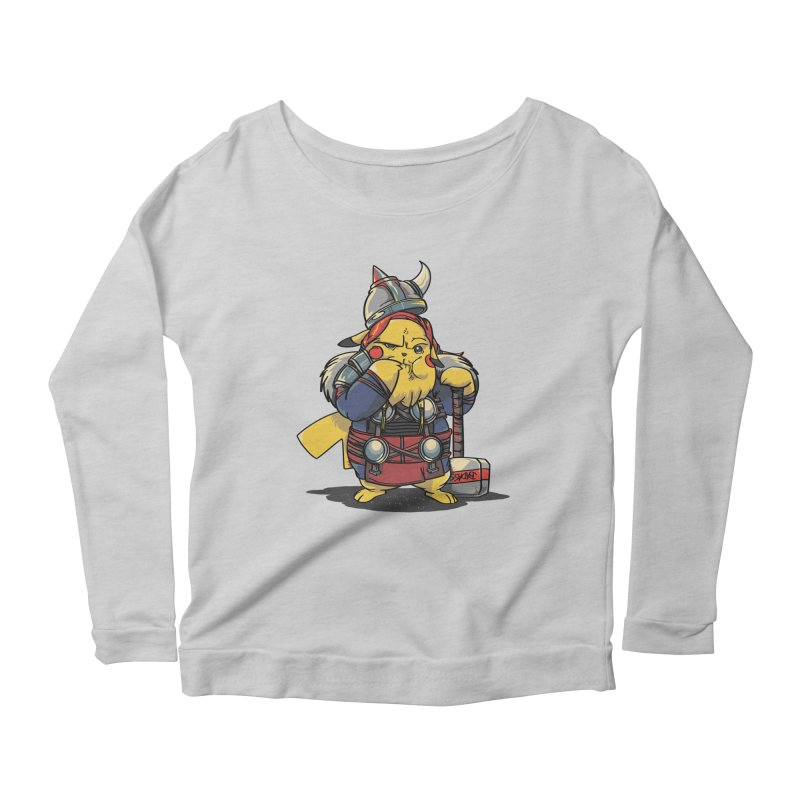 The real God of Thunder Women's Longsleeve Scoopneck  by maus ventura's Artist Shop
