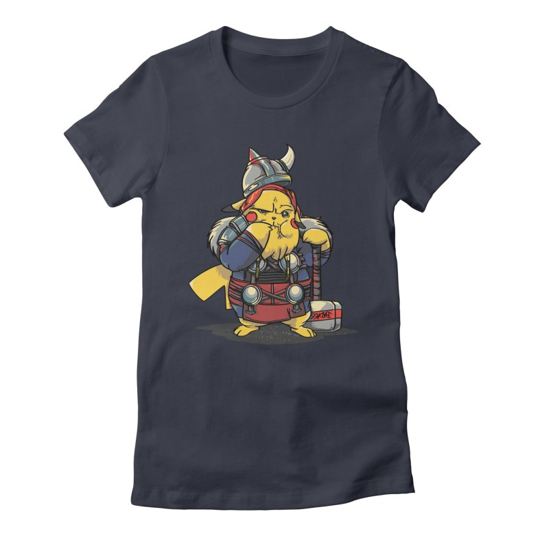 The real God of Thunder Women's Fitted T-Shirt by maus ventura's Artist Shop