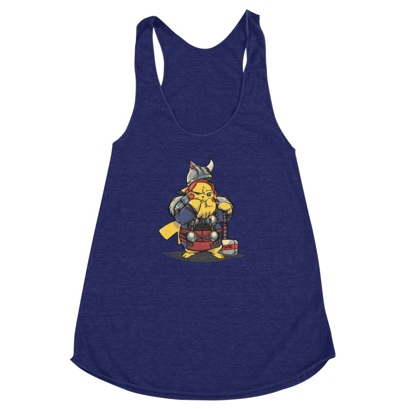The real God of Thunder Women's Racerback Triblend Tank by maus ventura's Artist Shop