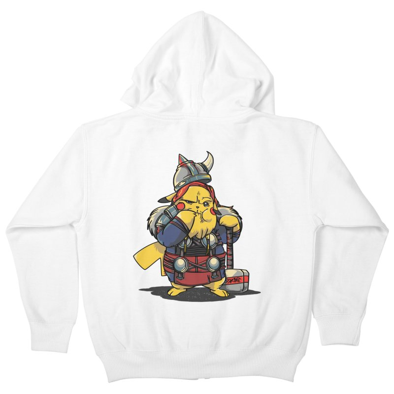 The real God of Thunder Kids Zip-Up Hoody by maus ventura's Artist Shop