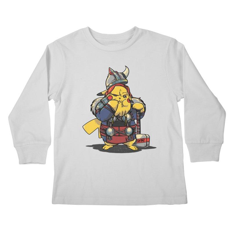 The real God of Thunder Kids Longsleeve T-Shirt by maus ventura's Artist Shop