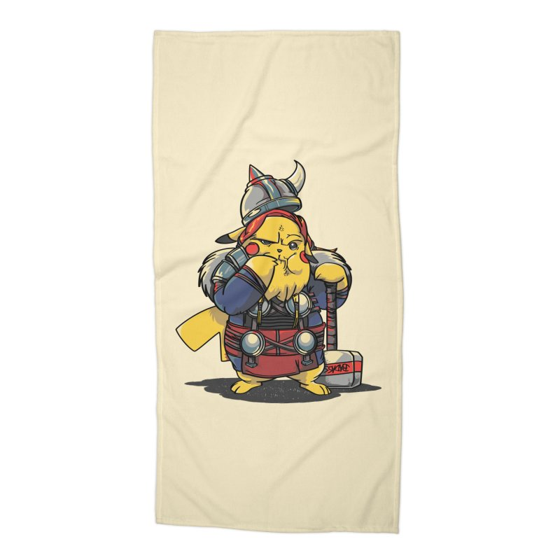 The real God of Thunder Accessories Beach Towel by maus ventura's Artist Shop