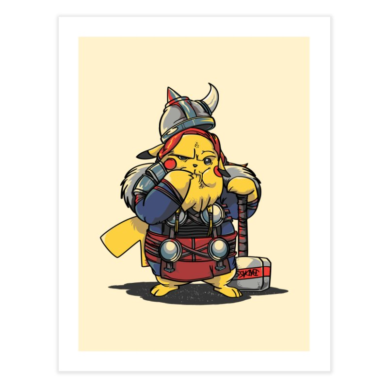 The real God of Thunder Home Fine Art Print by maus ventura's Artist Shop
