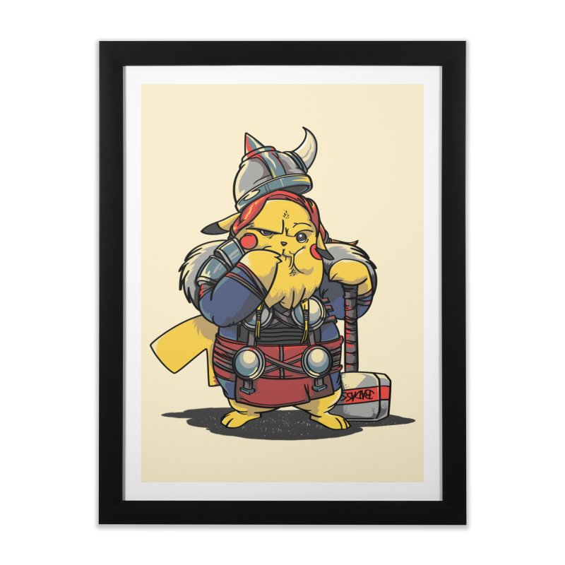The real God of Thunder Home Framed Fine Art Print by maus ventura's Artist Shop