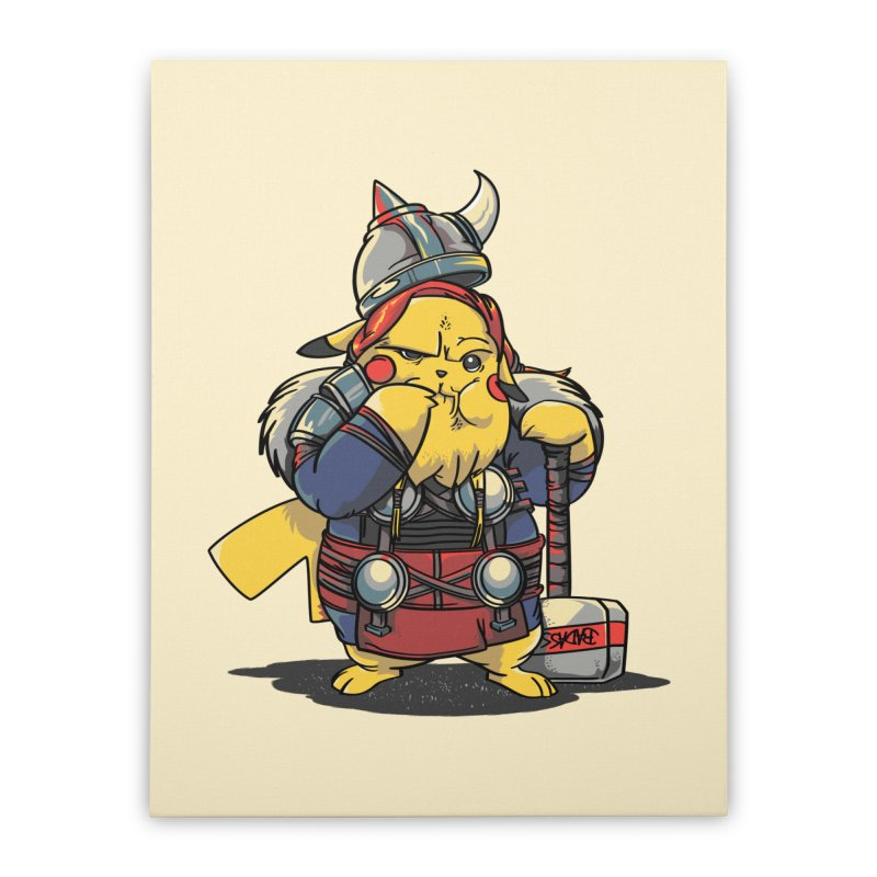The real God of Thunder Home Stretched Canvas by maus ventura's Artist Shop