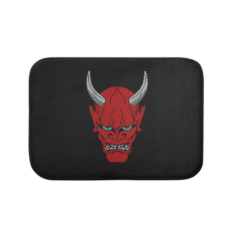 Hannya - Ugly sweater version Home Bath Mat by maus ventura's Artist Shop
