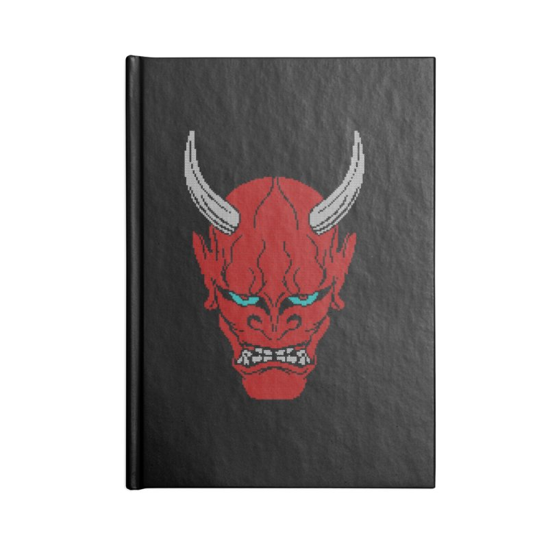 Hannya - Ugly sweater version Accessories Blank Journal Notebook by maus ventura's Artist Shop