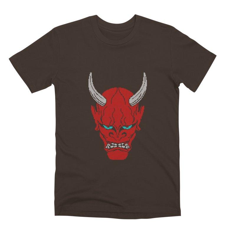 Hannya - Ugly sweater version Men's Premium T-Shirt by maus ventura's Artist Shop