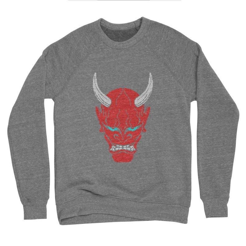 Hannya - Ugly sweater version Men's Sponge Fleece Sweatshirt by maus ventura's Artist Shop