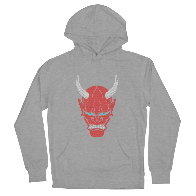 Hannya - Ugly sweater version Men's French Terry Pullover Hoody by maus ventura's Artist Shop