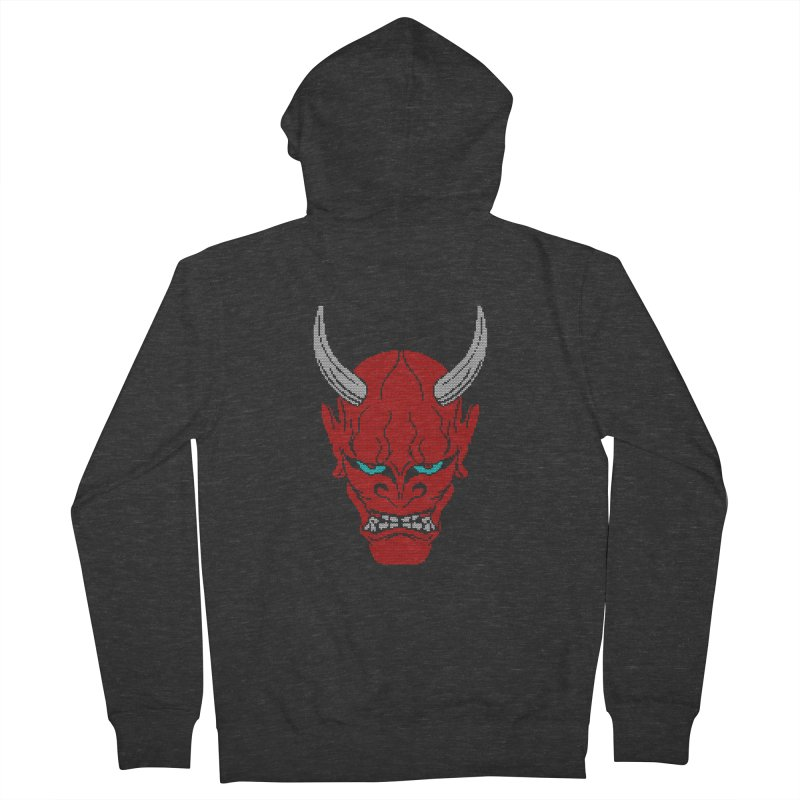 Hannya - Ugly sweater version Men's French Terry Zip-Up Hoody by maus ventura's Artist Shop