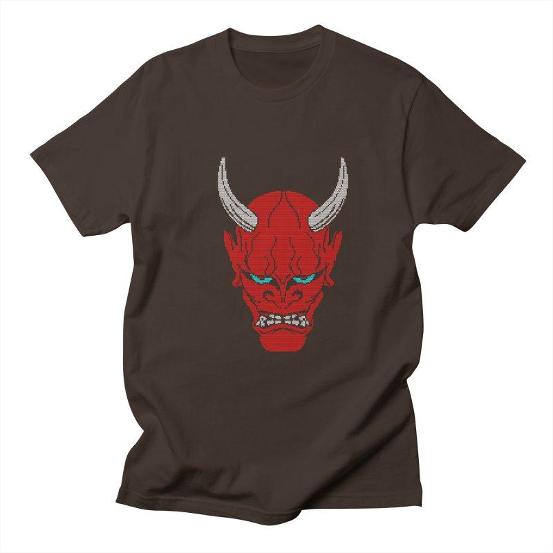 Hannya - Ugly sweater version Men's Regular T-Shirt by maus ventura's Artist Shop