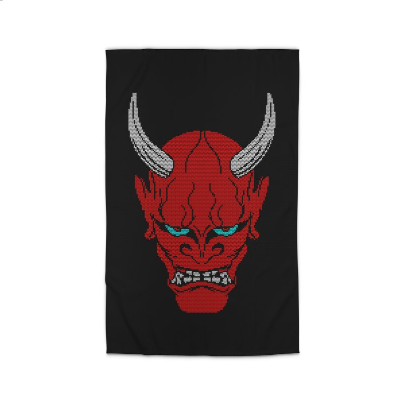 Hannya - Ugly sweater version Home Rug by maus ventura's Artist Shop