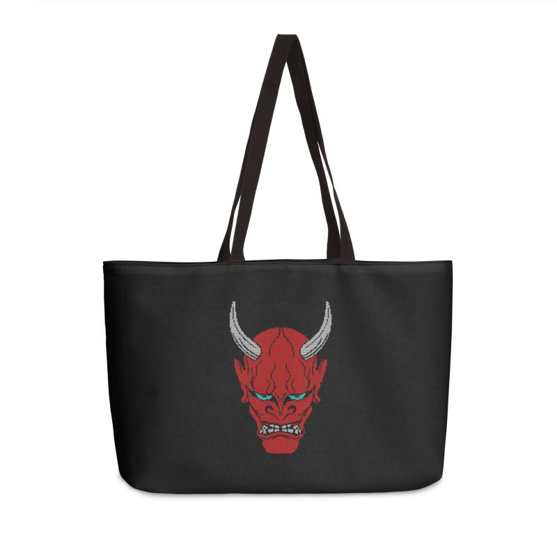 Hannya - Ugly sweater version Accessories Weekender Bag Bag by maus ventura's Artist Shop
