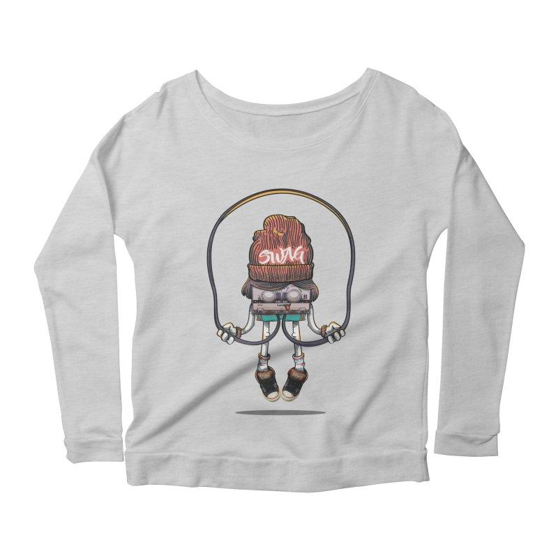 Swag Women's Scoop Neck Longsleeve T-Shirt by maus ventura's Artist Shop