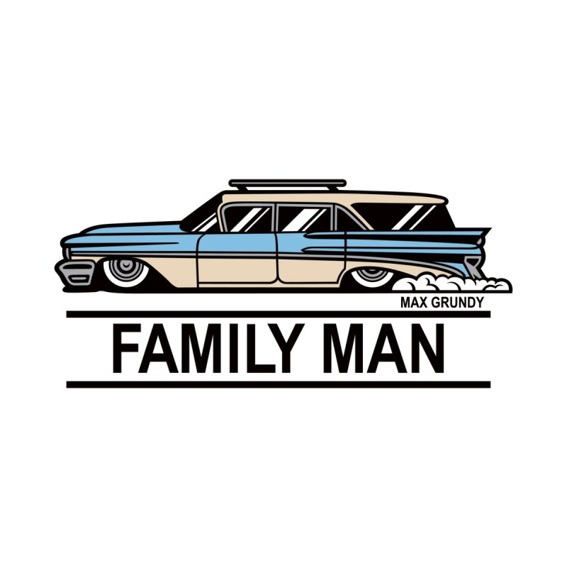 Family Man Accessories Greeting Card by Max Grundy Design's Artist Shop