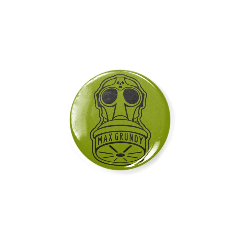Gas Mask (Black) Accessories Button by Max Grundy Design's Artist Shop