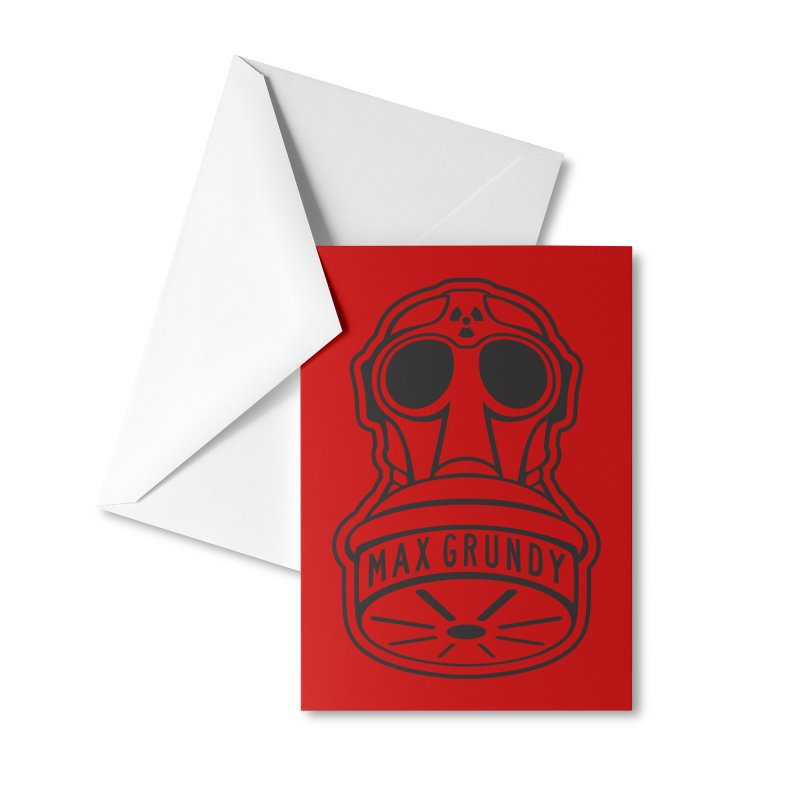 Gas Mask (Black) Accessories Greeting Card by Max Grundy Design's Artist Shop