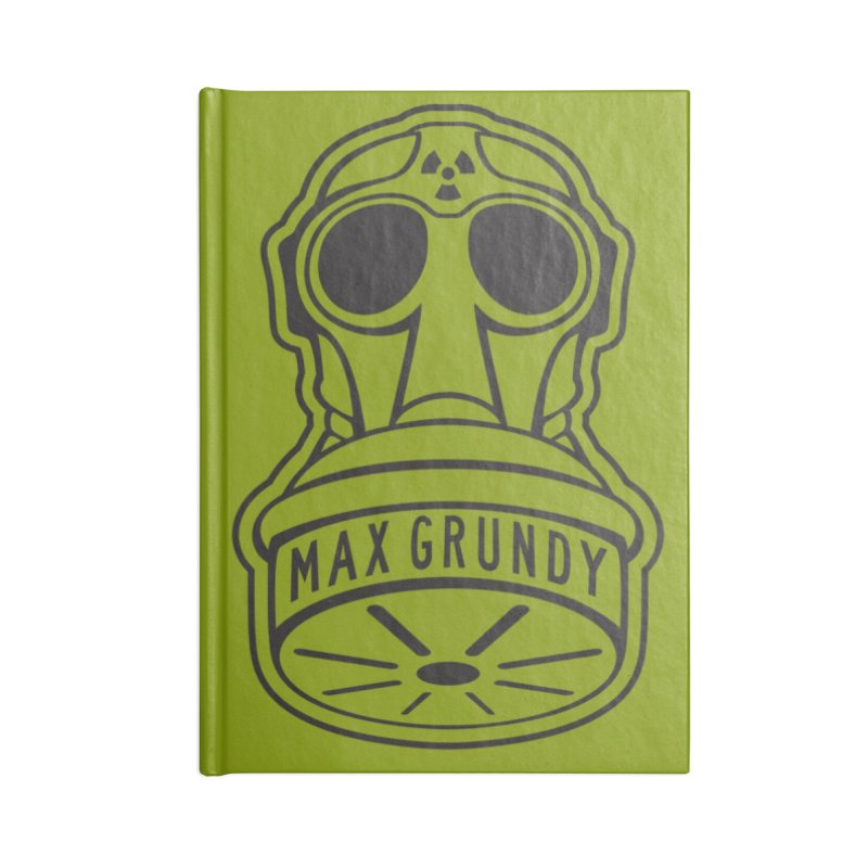 Gas Mask (Black) Accessories Notebook by Max Grundy Design's Artist Shop