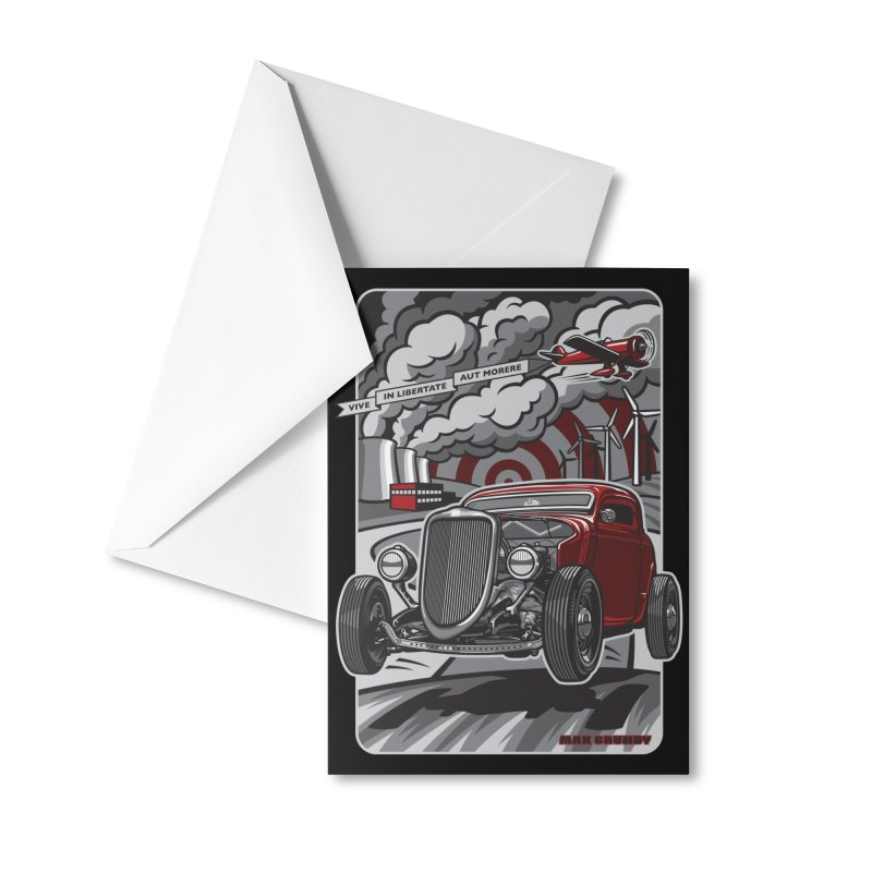 LIVE FREE OR DIE Accessories Greeting Card by Max Grundy Design's Artist Shop