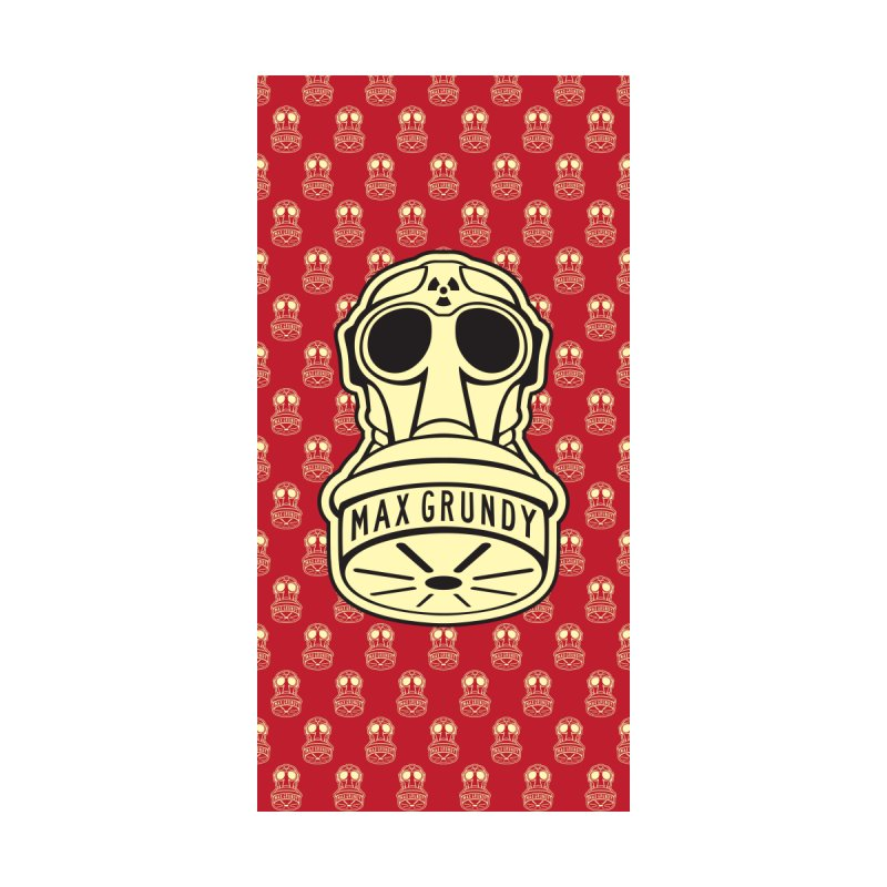 GAS MASK BEACH TOWEL (RED) by Max Grundy Design's Artist Shop