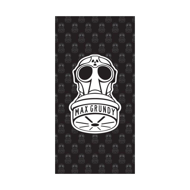 GAS MASK BEACH TOWEL (BLACK) by Max Grundy Design's Artist Shop