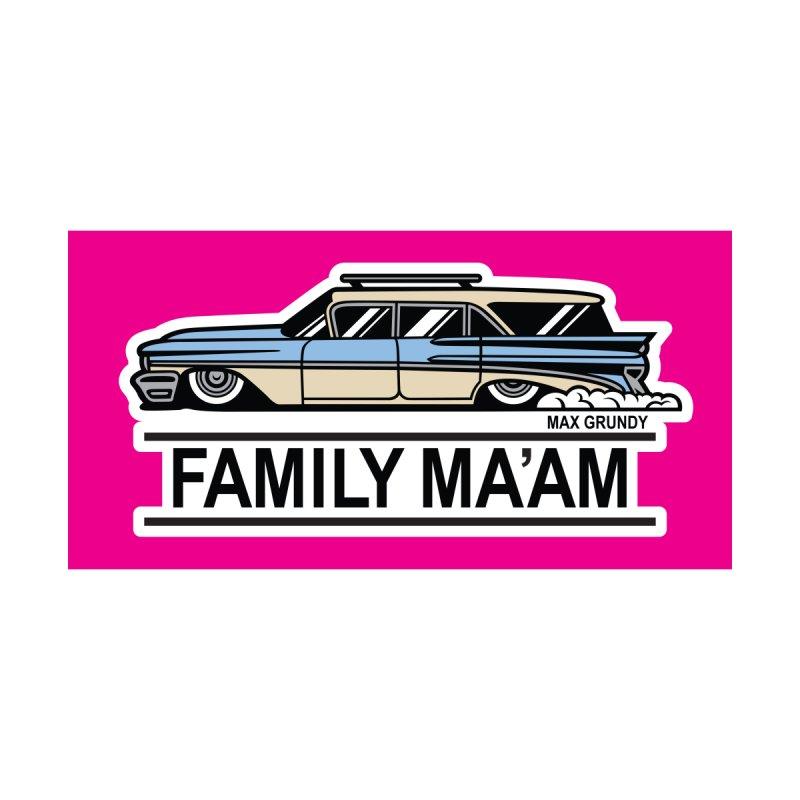 FAMILY MA'AM beach towel by Max Grundy Design's Artist Shop