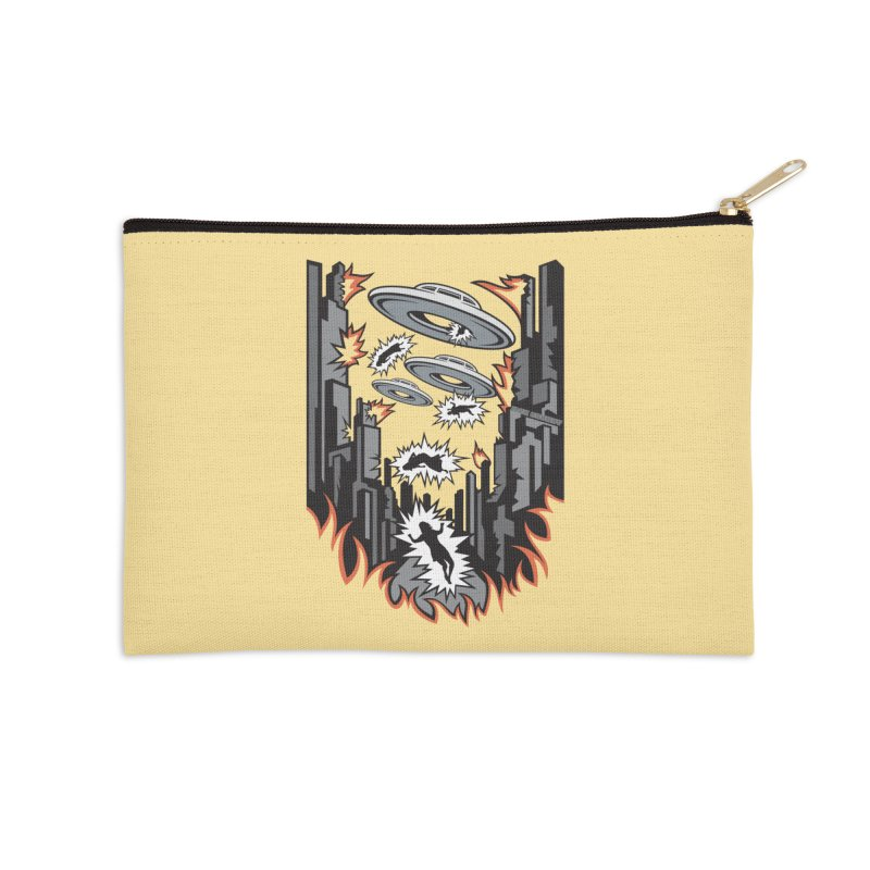 XENOPHOBIA Accessories Zip Pouch by Max Grundy Design's Artist Shop