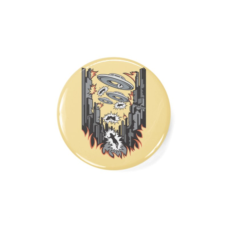 XENOPHOBIA Accessories Button by Max Grundy Design's Artist Shop