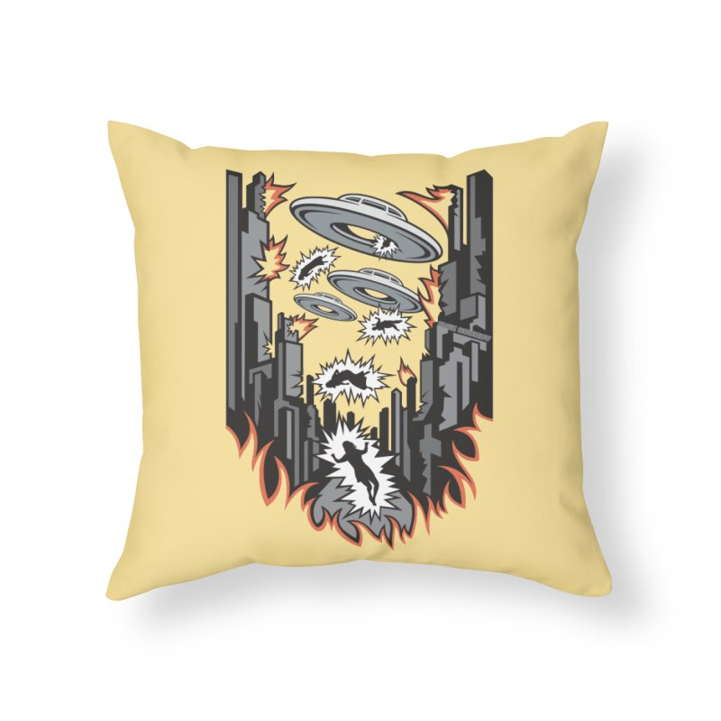 XENOPHOBIA Home Throw Pillow by Max Grundy Design's Artist Shop