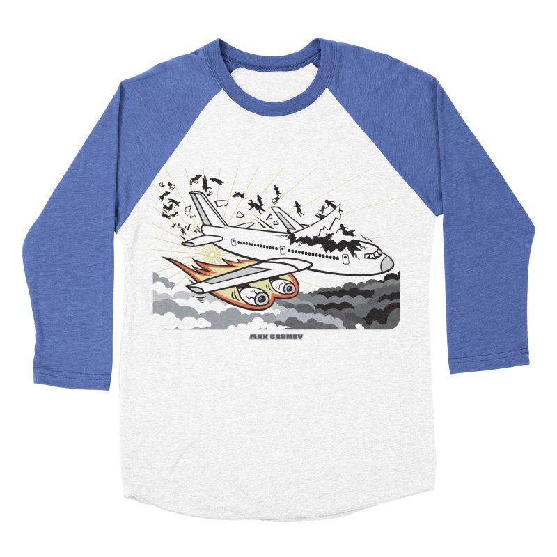 BASOPHOBIA Women's Baseball Triblend Longsleeve T-Shirt by Max Grundy Design's Artist Shop