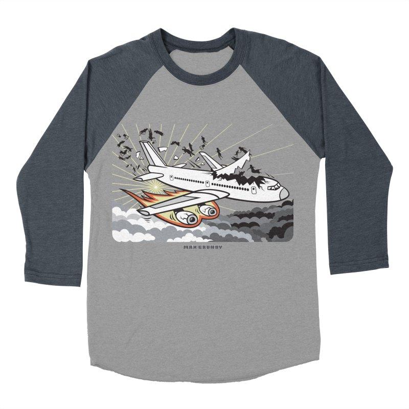 BASOPHOBIA Men's Baseball Triblend Longsleeve T-Shirt by Max Grundy Design's Artist Shop