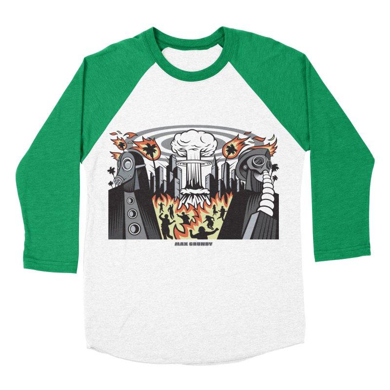 NUCLEOMITAPHOBIA Women's Baseball Triblend Longsleeve T-Shirt by Max Grundy Design's Artist Shop