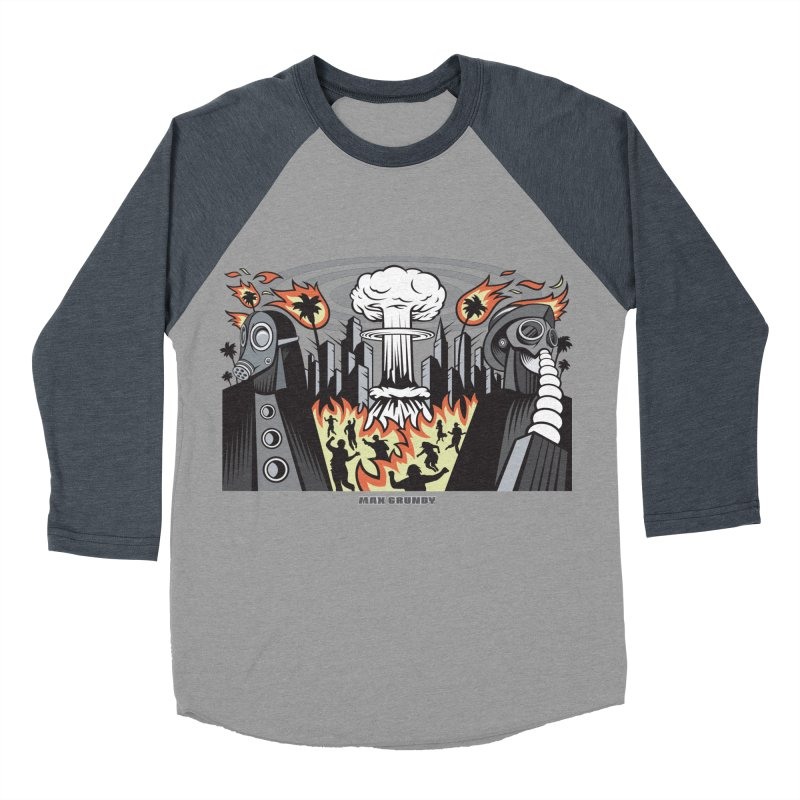 NUCLEOMITAPHOBIA Men's Baseball Triblend Longsleeve T-Shirt by Max Grundy Design's Artist Shop