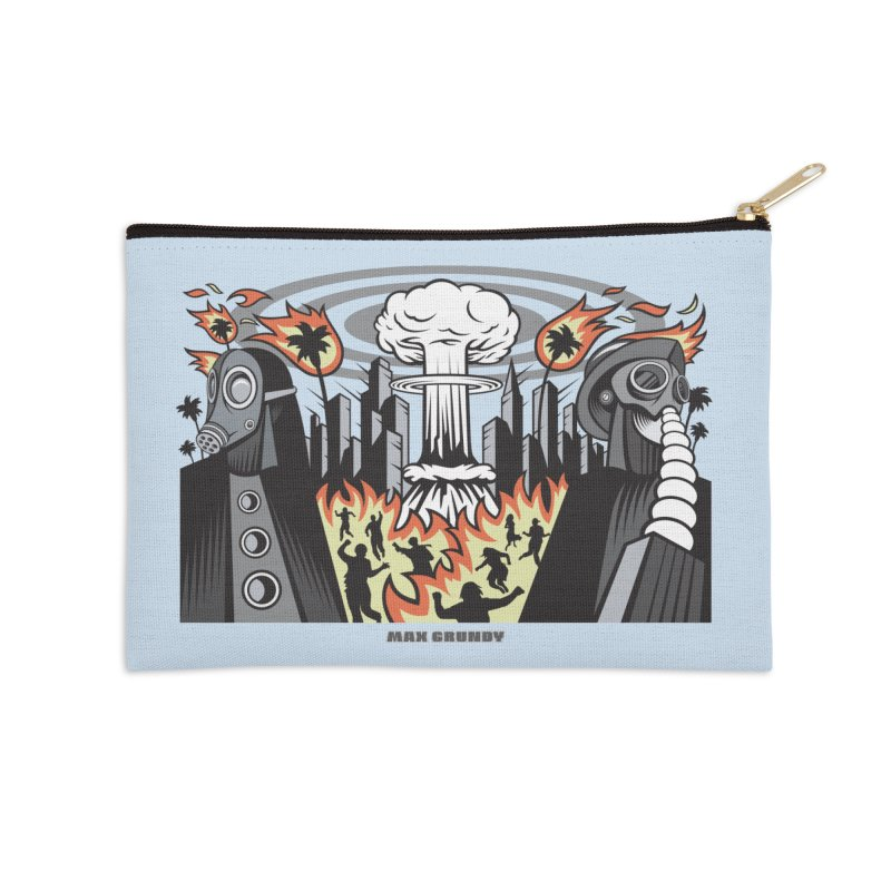 NUCLEOMITAPHOBIA Accessories Zip Pouch by Max Grundy Design's Artist Shop