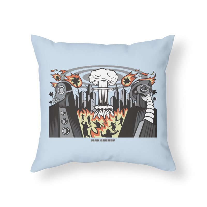 NUCLEOMITAPHOBIA Home Throw Pillow by Max Grundy Design's Artist Shop