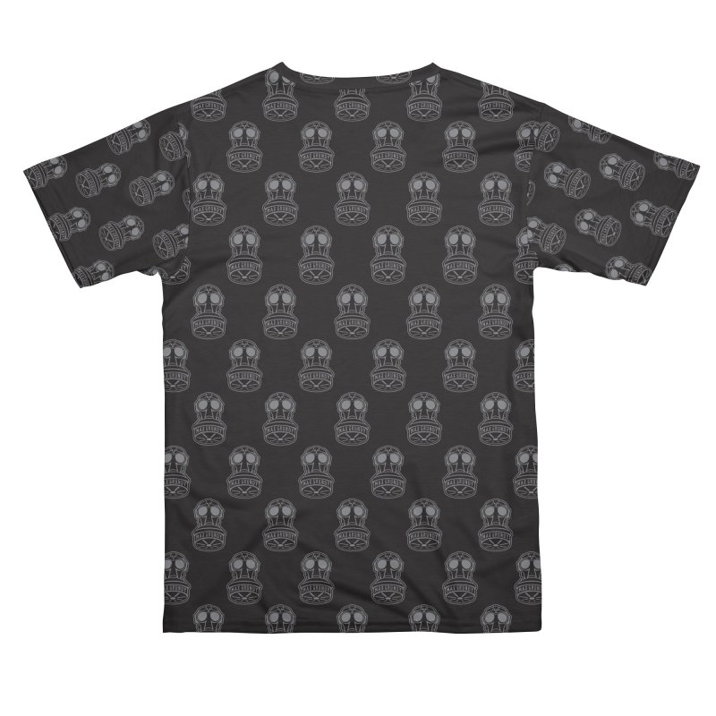 GREY GAS MASK ALL-OVER TEE Men's Cut & Sew by Max Grundy Design's Artist Shop