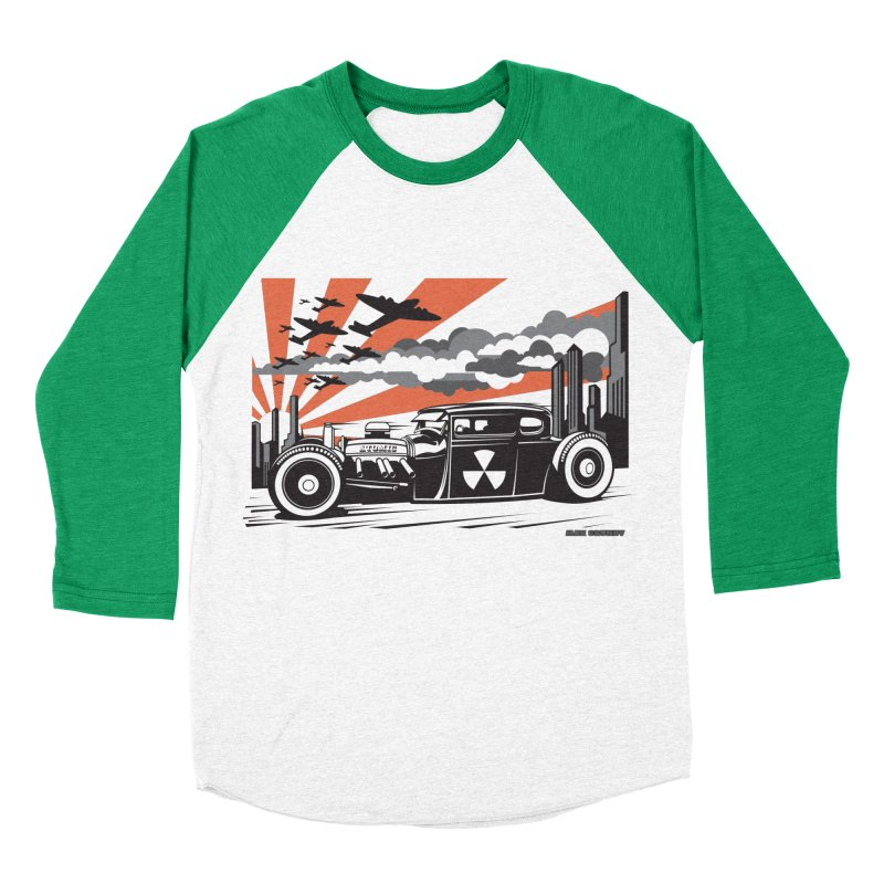 ATOMIC COUPE (orange) Women's Baseball Triblend Longsleeve T-Shirt by Max Grundy Design's Artist Shop