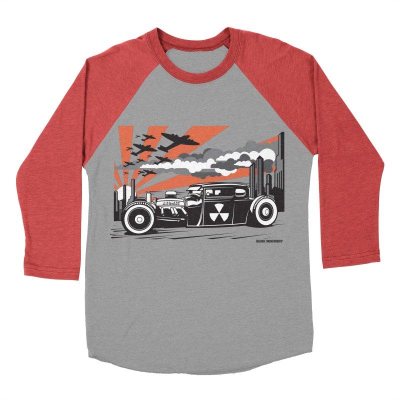 ATOMIC COUPE (orange) Men's Baseball Triblend Longsleeve T-Shirt by Max Grundy Design's Artist Shop