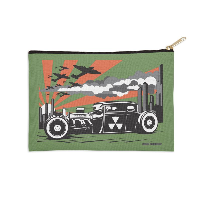 ATOMIC COUPE (orange) Accessories Zip Pouch by Max Grundy Design's Artist Shop
