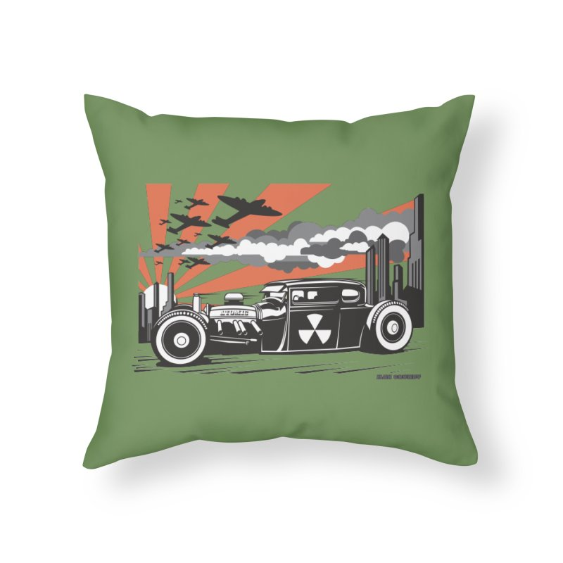 ATOMIC COUPE (orange) Home Throw Pillow by Max Grundy Design's Artist Shop