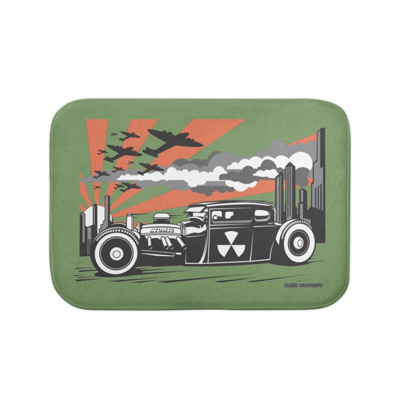 ATOMIC COUPE (orange) Home Bath Mat by Max Grundy Design's Artist Shop