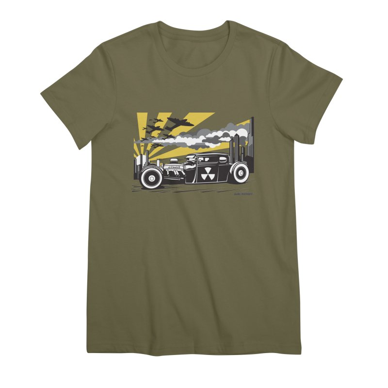 ATOMIC COUPE (yellow) Women's Premium T-Shirt by Max Grundy Design's Artist Shop