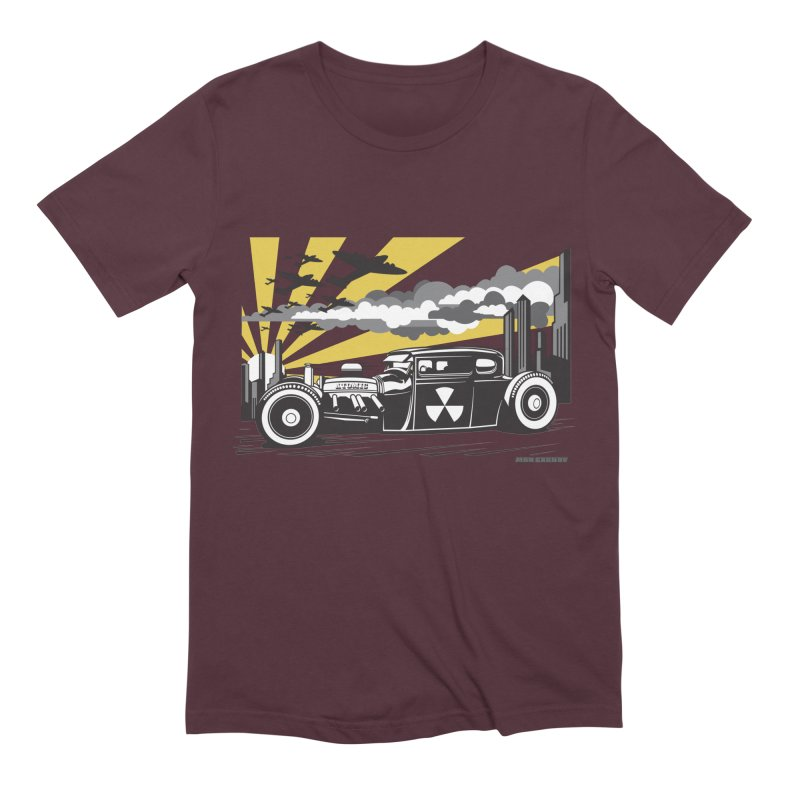 ATOMIC COUPE (yellow) Men's Extra Soft T-Shirt by Max Grundy Design's Artist Shop
