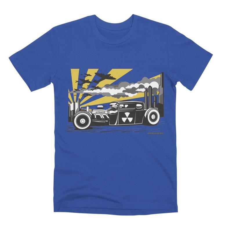 ATOMIC COUPE (yellow) Men's Premium T-Shirt by Max Grundy Design's Artist Shop
