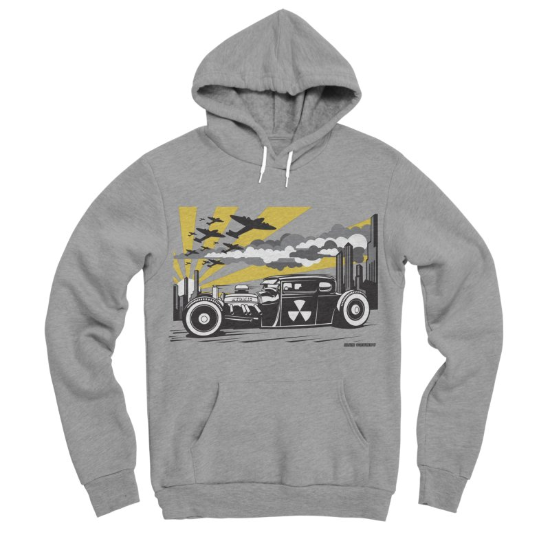ATOMIC COUPE (yellow) Women's Sponge Fleece Pullover Hoody by Max Grundy Design's Artist Shop