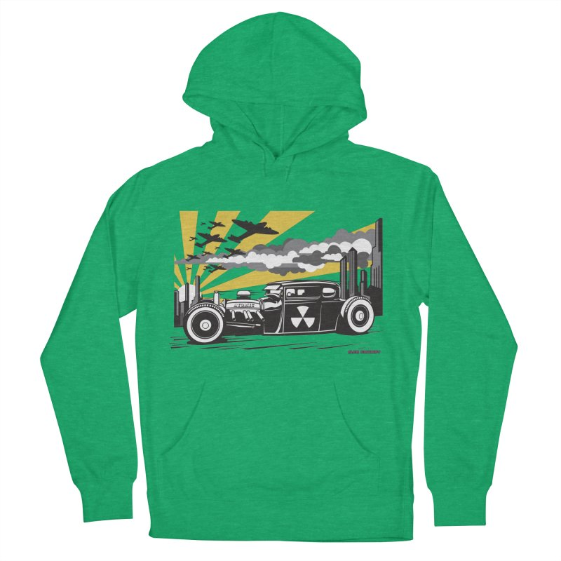ATOMIC COUPE (yellow) Women's French Terry Pullover Hoody by Max Grundy Design's Artist Shop