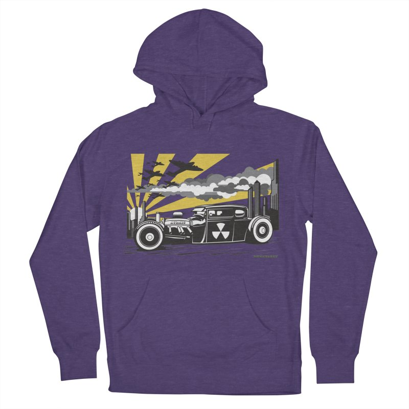 ATOMIC COUPE (yellow) Men's French Terry Pullover Hoody by Max Grundy Design's Artist Shop