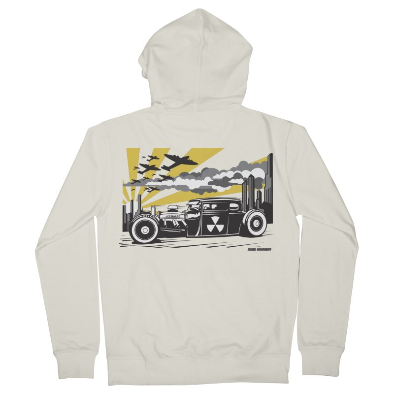 ATOMIC COUPE (yellow) Women's French Terry Zip-Up Hoody by Max Grundy Design's Artist Shop